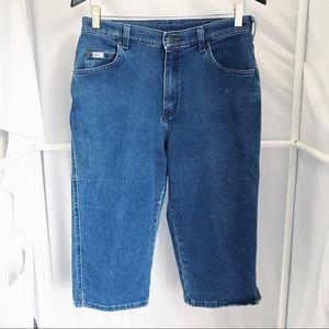 Vintage Retro Lee Knee-Length Denim Shorts